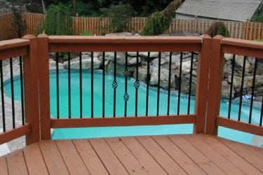 Deck Railing with Pool