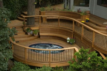 Spa Nook Curved Deck